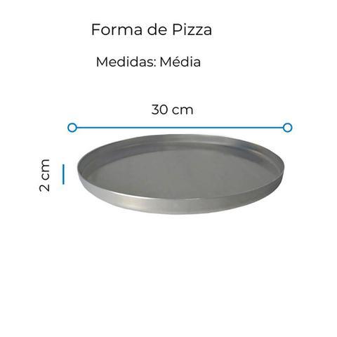 Imagem de Kit 3 Formas de Pizza Alumínio Média 30 cm Uso Profissional