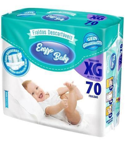 Imagem de Kit 3 Fralda Descartável Baby Felt Noturna Infantil XG - 70 Unidades Atacado Barato