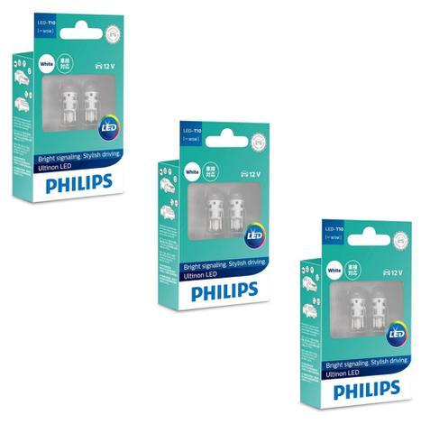 Imagem de Kit 3 Lâmpadas Philips Pingo Led Ultinon 6000kW5w T10 Branca