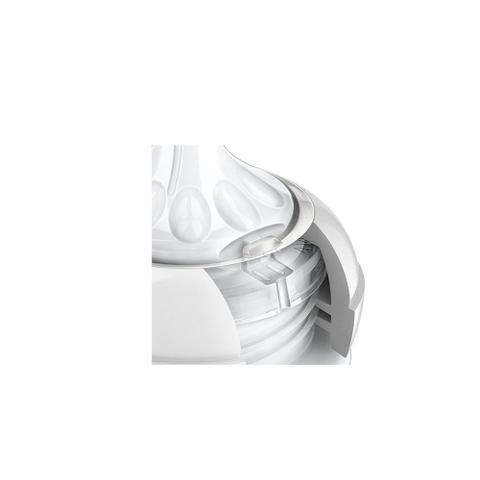 Imagem de Kit 3 Mamadeiras Pétala Anticólica Transparente Chupeta Ultra Air 6 a 18 m Escova Dosador Rosa Avent