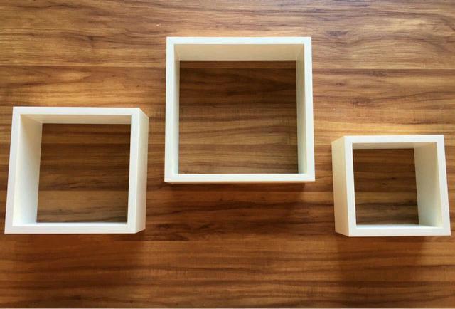Imagem de Kit 3 Nichos Quadrado Decorativo Mdf Branco Alta Qualidade
