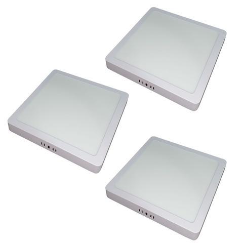 Imagem de KIT 3  Painel Plafon LED 18w Quadrado Sobrepor Branco Frio Luminária