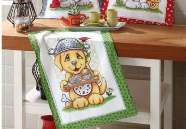 Imagem de Kit 3 Panos de Prato Pet Food Cachorros