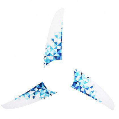 Imagem de Kit 3 Pás Spirit Geométrico Triângulos Azuis L7