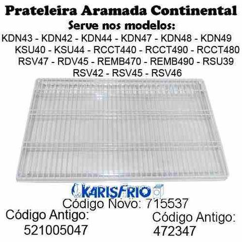 Imagem de Kit 3 Prateleiras Aço Geladeira Continental Copacabana