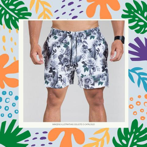 Imagem de Kit 3 Short Masculino Mauricinho Tactel Moda Praia Verão Piscina Preço de Atacado Sortidas
