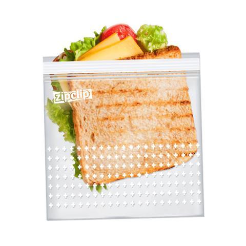 Imagem de Kit 30 Saco Plastico Para Freezer Hermetico Saquinho Zip Clip 16,5 X 15cm Marinar Embalagem Cozinha