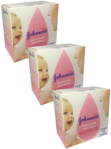Imagem de Kit  3x Absorvente de seios Johnsons - 12 unidades