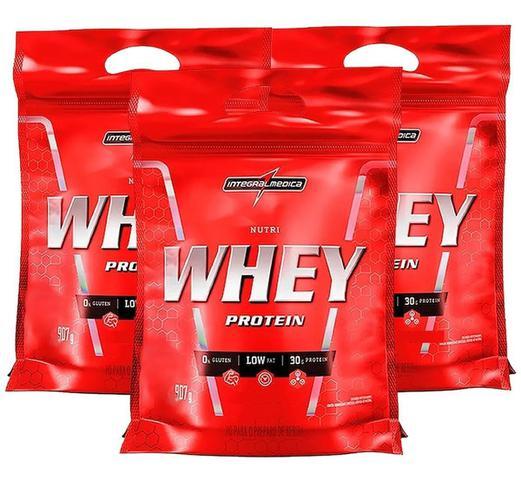 Imagem de Kit 3x Nutri Whey Chocolate 907g Whey Protein Concentrado Isolado Integralmédica