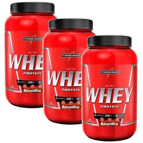 Imagem de Kit 3X Nutri Whey Protein - 907g Baunilha - IntegralMédica