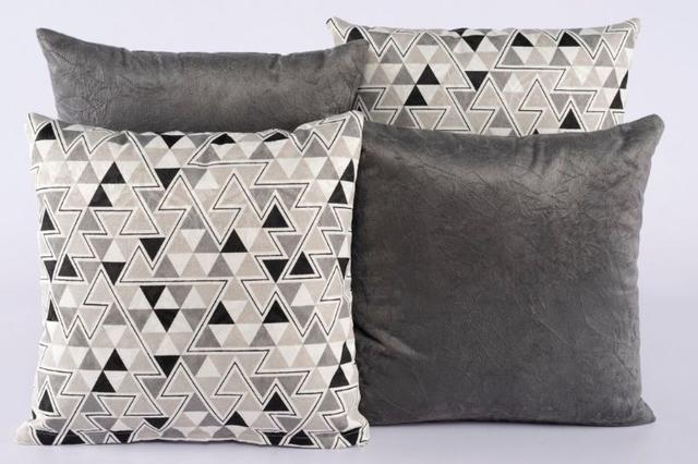 Imagem de Kit 4 Almofadas Jacquard Decorativas Sala Sofá 40x40 Cinza