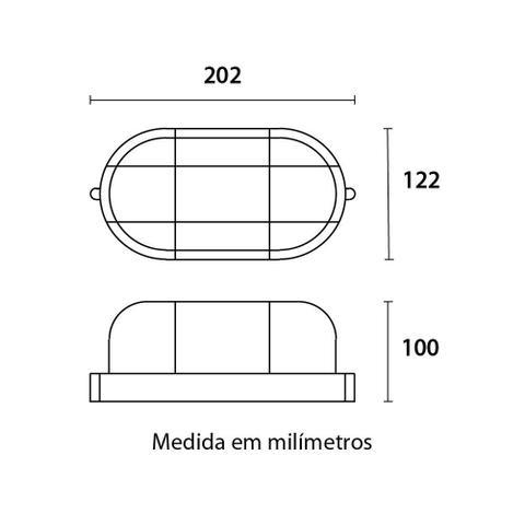 Imagem de Kit 4 arandelas polipropileno ip41 preta clean e27 tartaruga pamplona