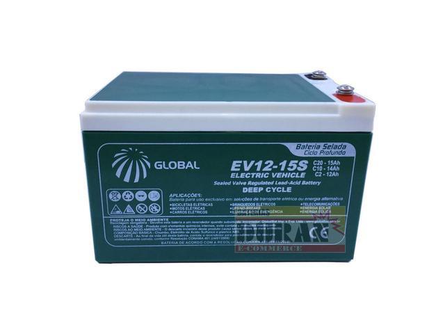 Imagem de Kit 4 Bateria Gel Global 12v 15ah 48v Scooter Bike Elétrica