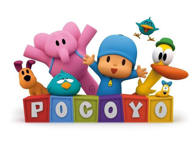Imagem de Kit 4 Bonecos Turma Do Pocoyo Elly Pato Loula Vinil Cardoso