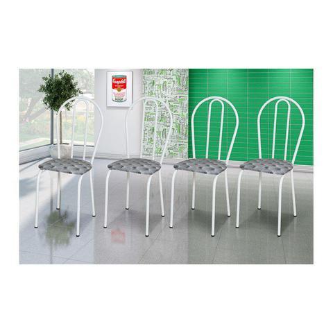 Imagem de Kit 4 Cadeiras 004 Branco/Capitonê  - Artefamol