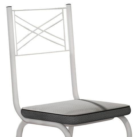 Imagem de Kit 4 Cadeiras 119 Europa Branco/Platina - Artefamol