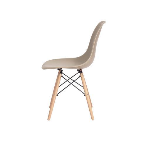 Imagem de Kit 4 Cadeiras Charles Eames Eiffel Nude Base Madeira