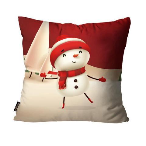 Imagem de Kit 4 Capas para Almofadas Mdecore Natal Feliz Natal Vermelha