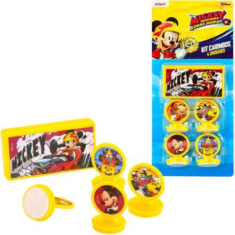 Imagem de Kit 4 Carimbos Infantis Mickey E 1 Acessório Disney Junior