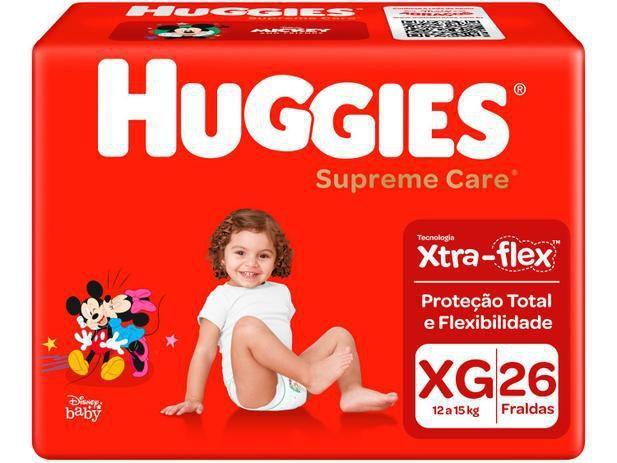 Imagem de Kit 4 Fralda Descartável Infantil Mônica Supreme Care XG 26 unidades