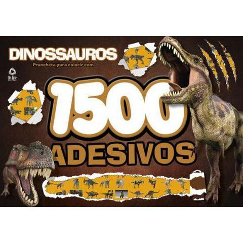 Imagem de Kit 4 livros - dinossauros quebra-cabeça + lapis de cor 36