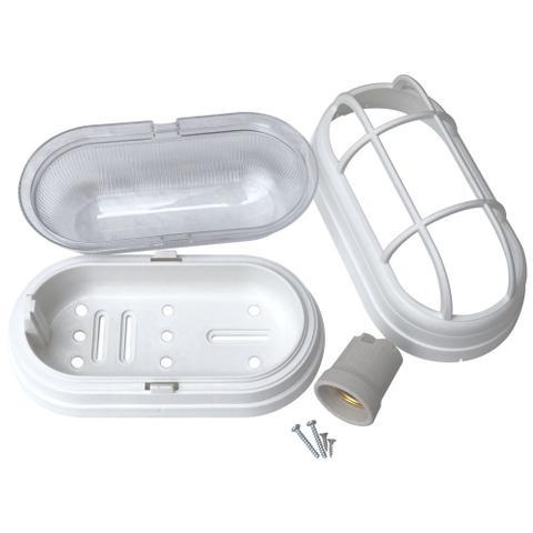 Imagem de Kit 4 Luminária Arandela Tartaruga Externa Teto e Parede Soft Bocal E27 40W 250V Branca