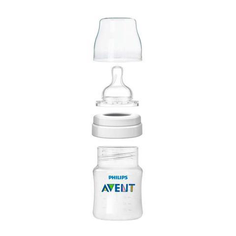 Imagem de Kit 4 Mamadeiras Clássica Anticólica 125 260 330 ml Avent Transparente e Esterilizador de Microondas