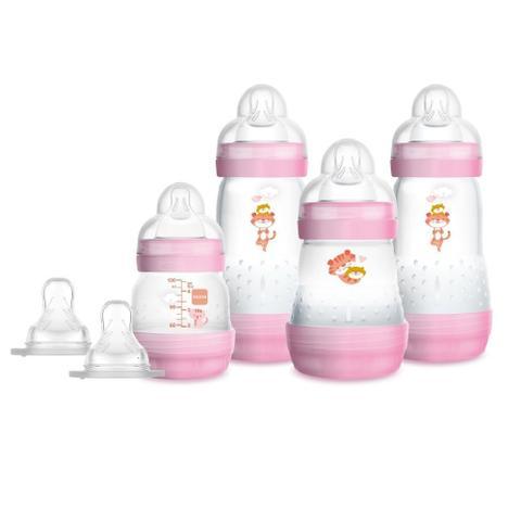 Imagem de Kit 4 Mamadeiras Mam Easy Start Gift Set Rosa 4692