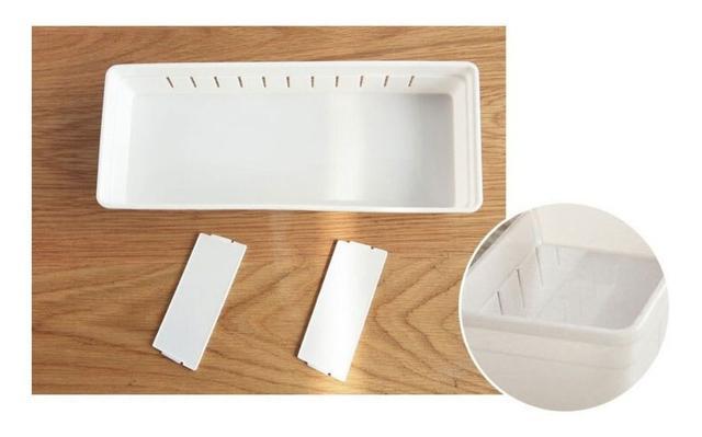 Imagem de Kit 4 Organizador de Gavetas Cozinha Divisórias Ajustáveis