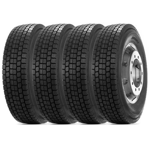 Imagem de Kit 4 Pneu Durable Aro 22.5 295/80r22.5 18PR 152/148M DR755 Borrachudo