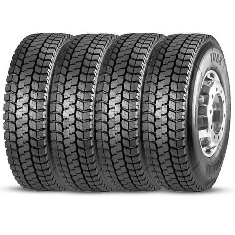 Imagem de Kit 4 Pneu Pirelli Aro 22.5 295/80r22.5 152/148m Borrachudo Tr88