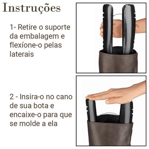 Imagem de Kit 4 Suporte Par de Botas Organizador Protetor Guarda Roupas Armário Closet Ordene OR62500