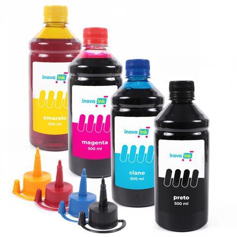 Imagem de Kit 4 Tintas Compatível Impressora L3110 500ml Inova Ink