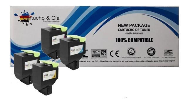 Imagem de Kit 4 Toner Compat Lexmark 71b4hk0 Cx417/517 - Bl/ci/ye/ma