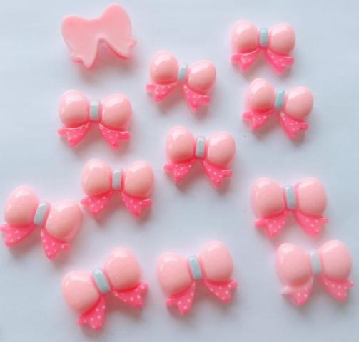 Imagem de Kit 48 Aplique De Resina/biscuit Infantil - Enfeite De Laço