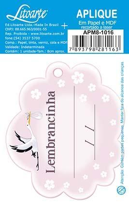Imagem de Kit 5 Aplique Decoupage Lembracinha Menina APM8-1016 em Papel e MDF 8cm Litoarte