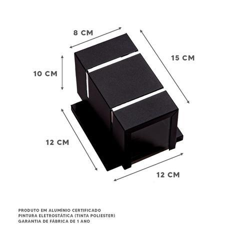 Imagem de Kit 5 Arandelas 2 Focos 2 Frisos C/base Externa Parede Muro Ar1512 Decoração