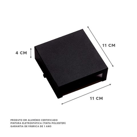 Imagem de Kit 5 Arandelas 2 Focos Externa Parede Muro Alumínio Ar1110