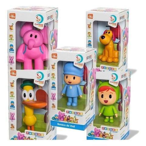 Imagem de Kit 5 Bonecos Turma Do Pocoyo Vinil Cardoso Toys