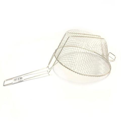 Imagem de Kit 5 Cesto Peneira Fritura Salgados Fritadeira Reforçada
