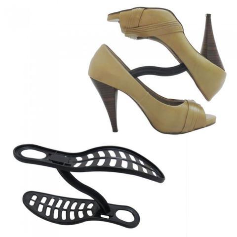 Imagem de Kit 5 Embalagens Organizador Sapatos Secalux 0281010 Kit de 10 Par Closet Armário Sapateira Calçados