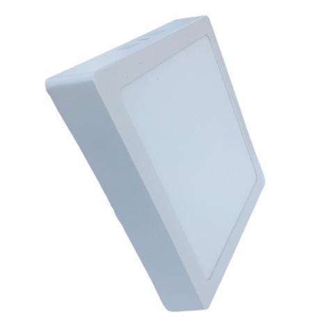 Imagem de Kit 5 Luminária Led Painel Plafon Sobrepor 18W Quadrado 22x22cm Branco Frio - Prime Light
