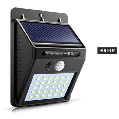 Imagem de Kit 5 Luminária Solar Iluminação Jardim Exterior Parede 30 Leds