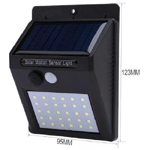 Imagem de Kit 5 Luminária Solar Jardim Iluminação Residencial  30 Leds