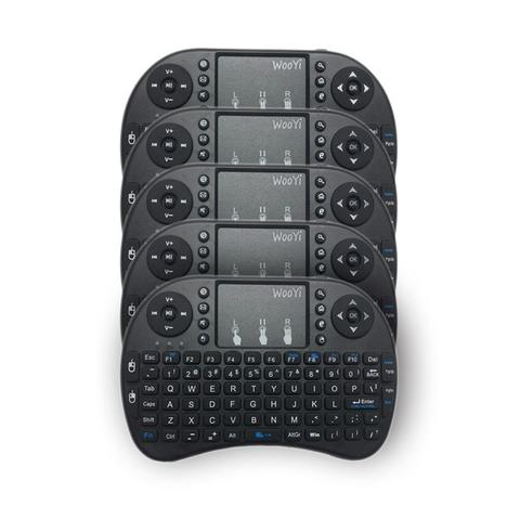 Imagem de Kit 5 Mini Teclado Sem Fio Touchpad Iluminado  Mega Premium