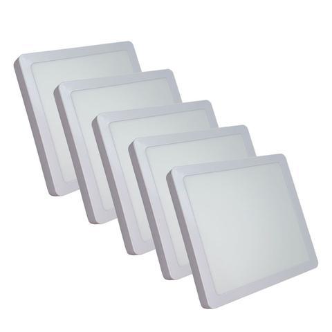 Imagem de KIT 5  Painel Plafon LED 18w Quadrado Sobrepor Branco Frio Luminária