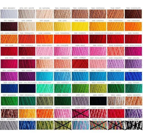 Imagem de Kit 5 Unid. Linha Crochê Clea 125 Mts 100% Algodão Círculo