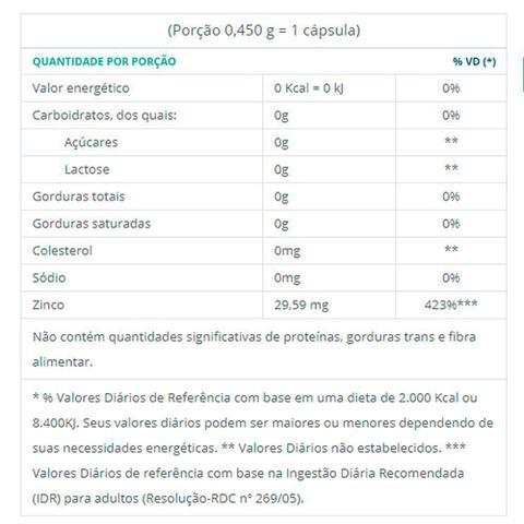 Imagem de Kit 5 Zinco Quelato Concentrado - 30 Cápsulas - Catarinense