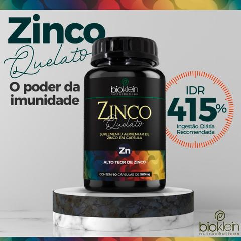 Imagem de Kit 5 Zinco Quelato Concentrado - 60 Cápsulas - Bioklein
