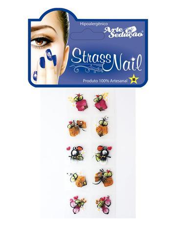 Imagem de Kit 50 Adesivos para Unhas Strass Nail, 100% Artesanal